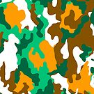 Camo Camouflage 2 - Abstract Colour Color Pattern by Wave Lords United