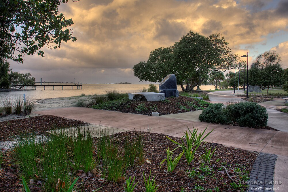 Cotton Tree Park at Dusk-HDR by Barbara Harris