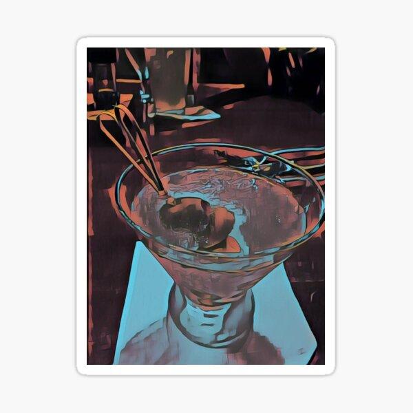 Martini Madness 3  Original Photography by Tony DuPuis Sticker