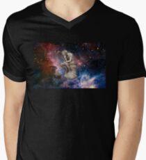 Surreal Thinker Meme Man In Space  Men's V-Neck T-Shirt