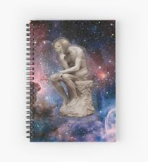 Surreal Thinker Meme Man In Space  Spiral Notebook