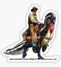 Utahraptor Rider Sticker
