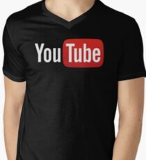 YouTube Full Logo - Red on Black T-Shirt