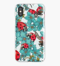 Happy Ladybugs with flowers - 4erta iPhone Case/Skin