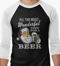 It's the Most Wonderful Time For a Beer Men's t-shirt - Beer Lovers Tee T-Shirt