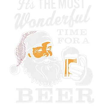 It's the Most Wonderful Time For a Beer Men's t-shirt - Beer Lovers Tee by KnockoutTees