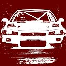 Nissan Skyline R34 GT-T - White by HoskingInd