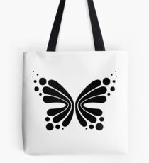 Graphic Butterfly B&W - Shee Vector Shape Tote Bag