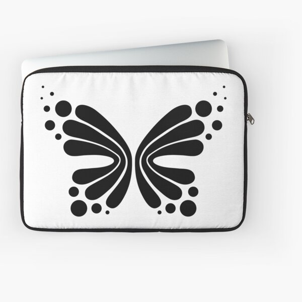 Graphic Butterfly B&W - Shee Vector Shape Laptop Sleeve