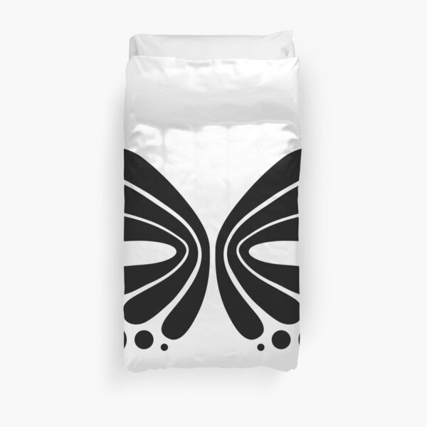 Graphic Butterfly B&W - Shee Vector Shape Duvet Cover