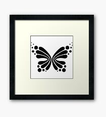 Graphic Butterfly B&W - Shee Vector Shape Framed Print