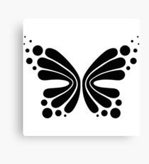 Graphic Butterfly B&W - Shee Vector Shape Canvas Print