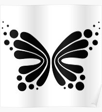 Graphic Butterfly B&W - Shee Vector Shape Poster