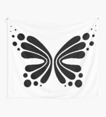 Graphic Butterfly B&W - Shee Vector Shape Wall Tapestry