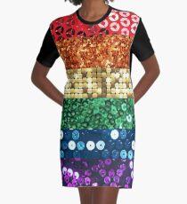 sequin pride flag Graphic T-Shirt Dress