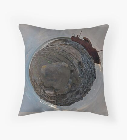 Shipwreck on Inisheer: The Plassey Wreck Throw Pillow