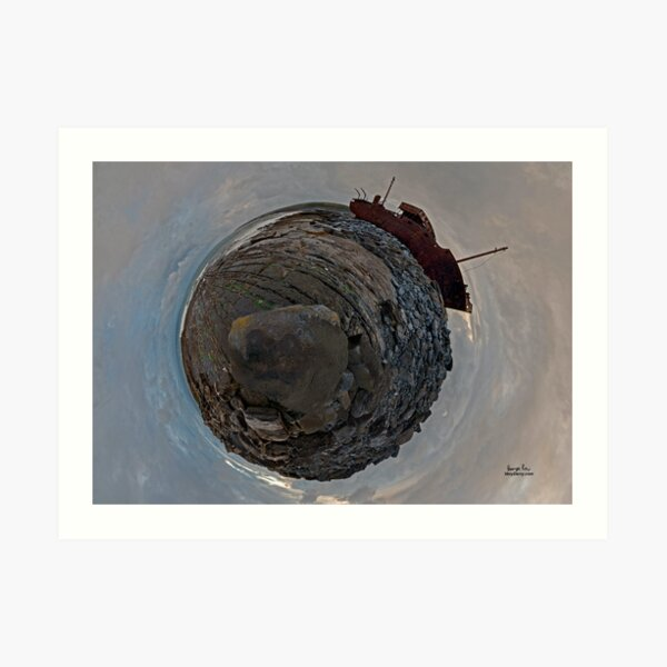 Shipwreck on Inisheer: The Plassey Wreck Art Print