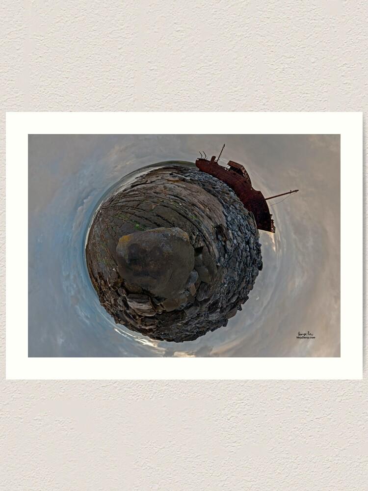 Alternate view of Shipwreck on Inisheer: The Plassey Wreck Art Print