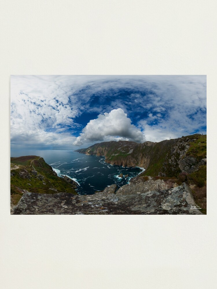 Alternate view of Bunglas - Highest Sea Cliffs in Europe? Photographic Print