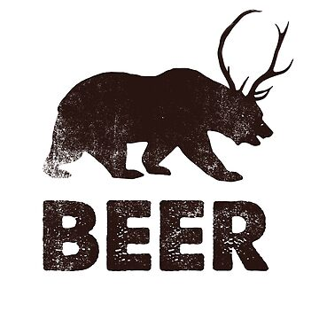 Vintage Beer Bear Pun by pastaneruda