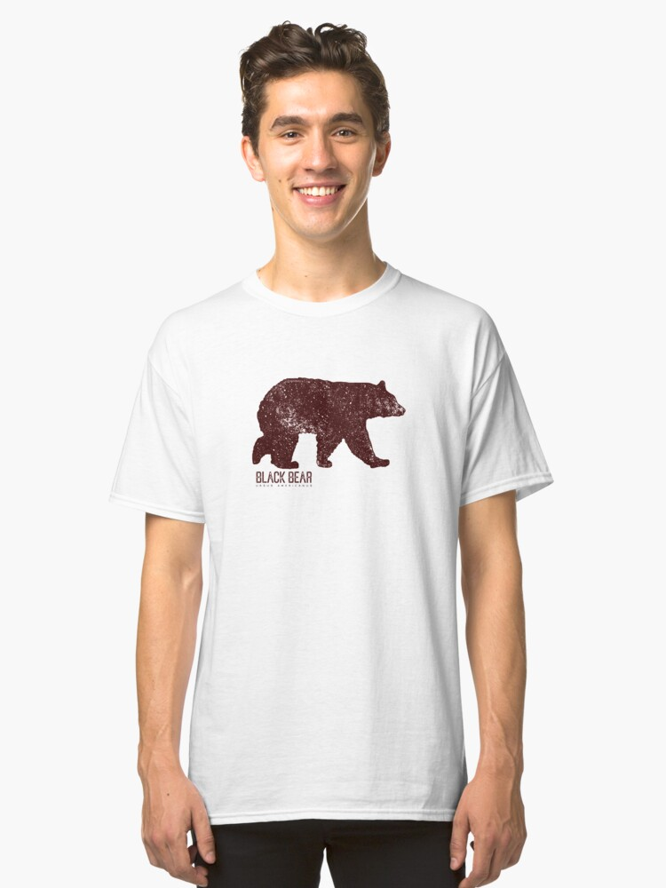 Alternate view of Black Bear Walking Classic T-Shirt