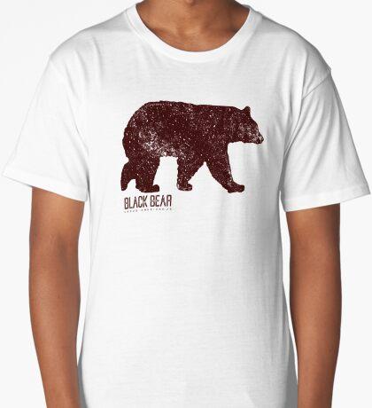 Black Bear Walking Long T-Shirt