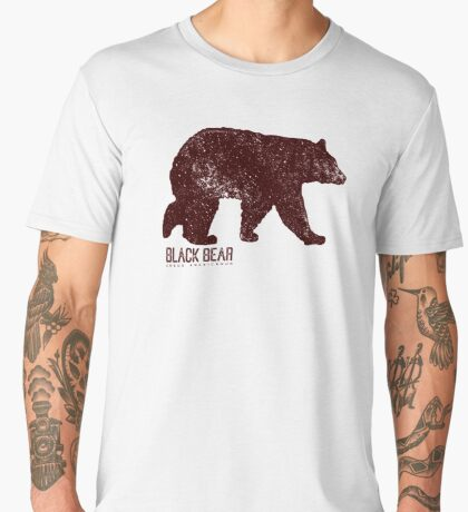Black Bear Walking Men's Premium T-Shirt