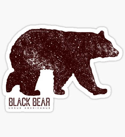 Black Bear Walking Sticker