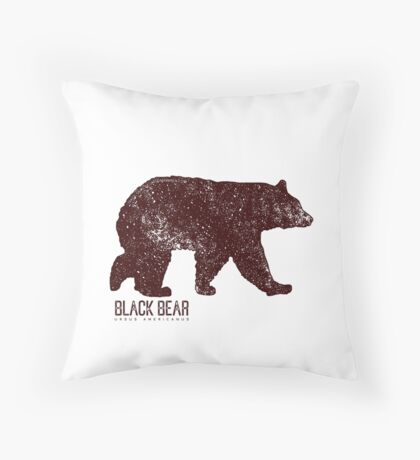 Black Bear Walking Floor Pillow