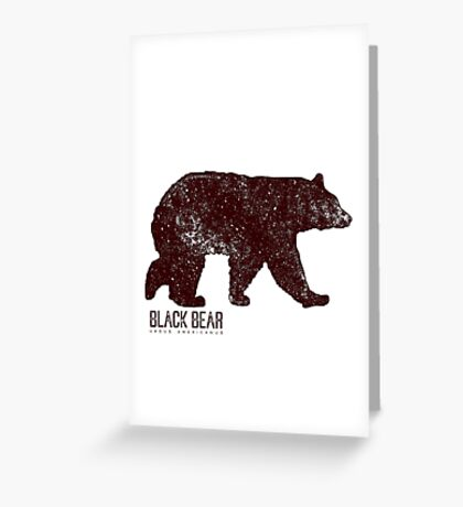 Black Bear Walking Greeting Card