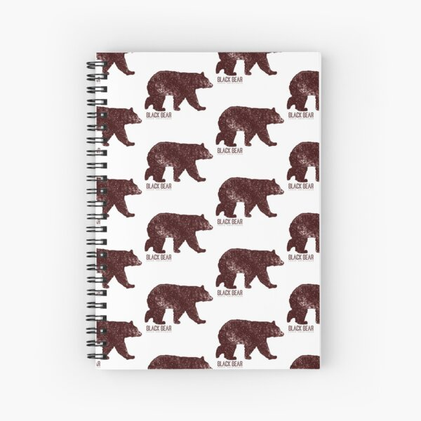 Black Bear Walking Spiral Notebook