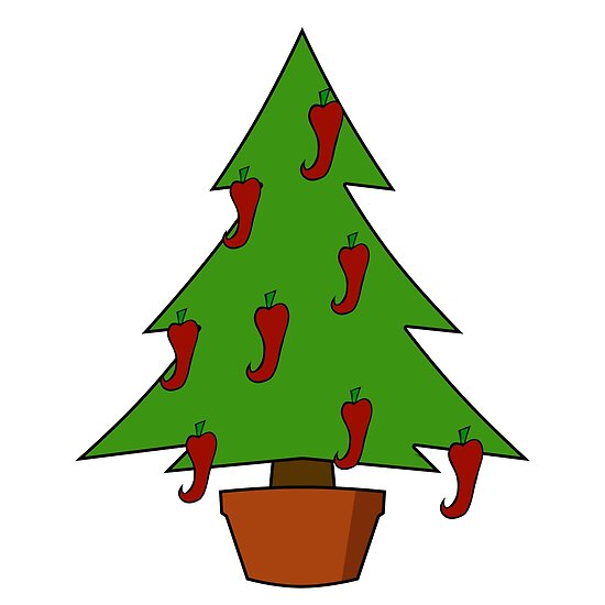 Quot Spicy Christmas Tree Chilli Peppers Quot Posters By