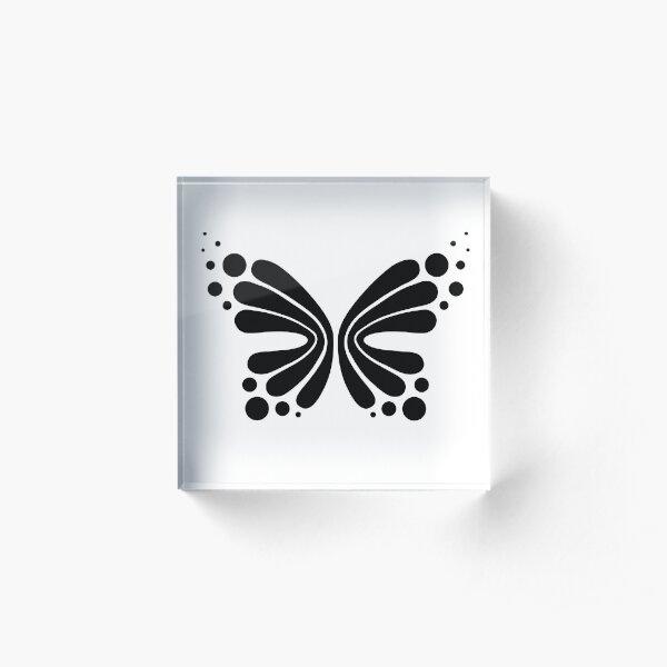 Graphic Butterfly B&W - Shee Vector Shape Acrylic Block
