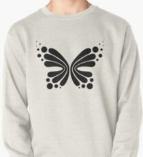 Graphic Butterfly B&W - Shee Vector Shape Pullover