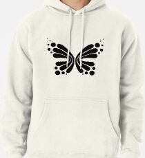 Graphic Butterfly B&W - Shee Vector Shape Pullover Hoodie