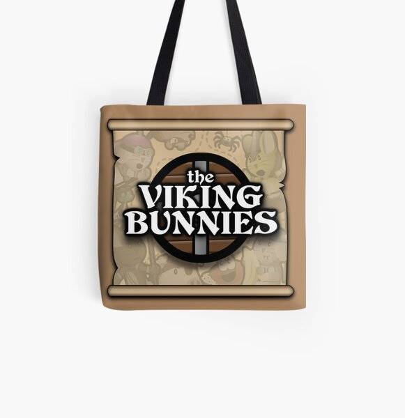The Viking Bunnies Logo All Over Print Tote Bag