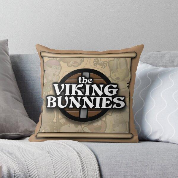 The Viking Bunnies Logo Throw Pillow