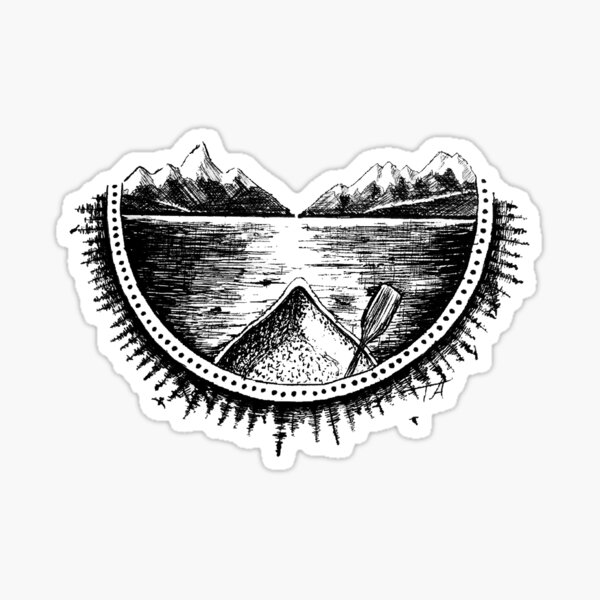 Serenity On The Water Sticker