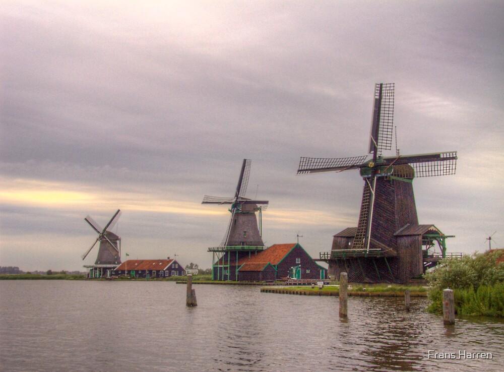 Three Mills - Zaanse Schans by Frans Harren