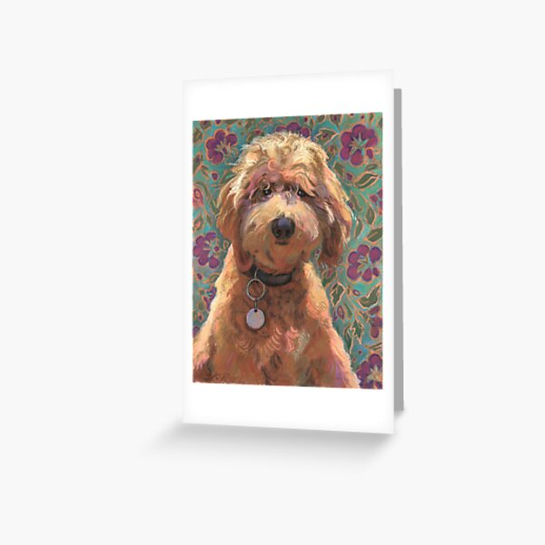 Lucky Labradoodle Greeting Card