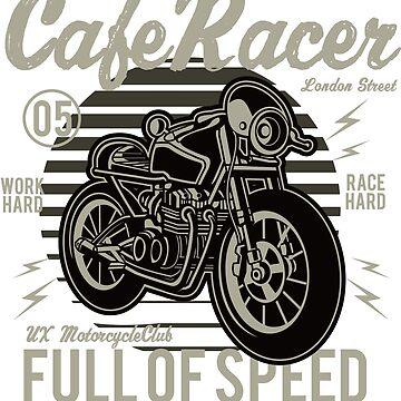 Cafe RacerFull of Speed Hoodie by webeller