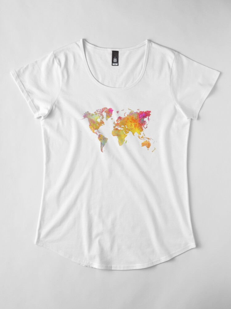 Alternate view of World Map  Premium Scoop T-Shirt