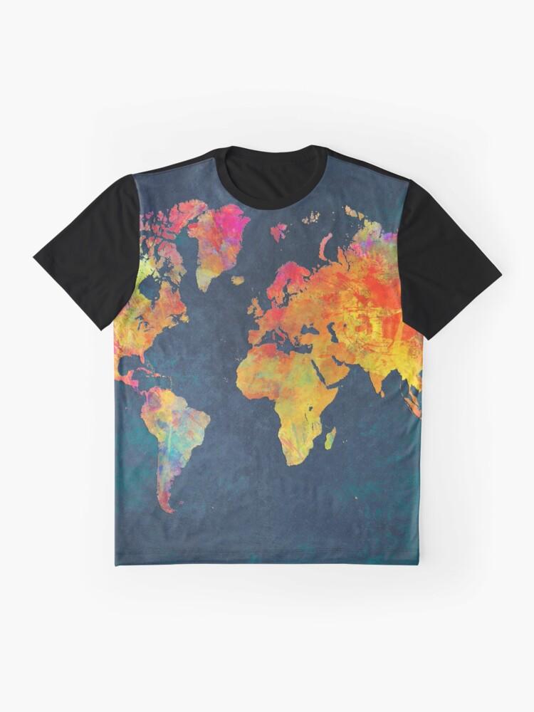 Alternate view of World Map  Graphic T-Shirt
