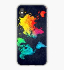 world map watercolor 6 iPhone Case