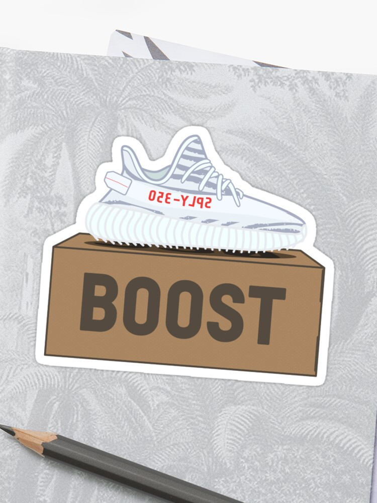 online store 35970 c8512 Yeezy Boost 350 V2 | Blue Tint Box | Sticker