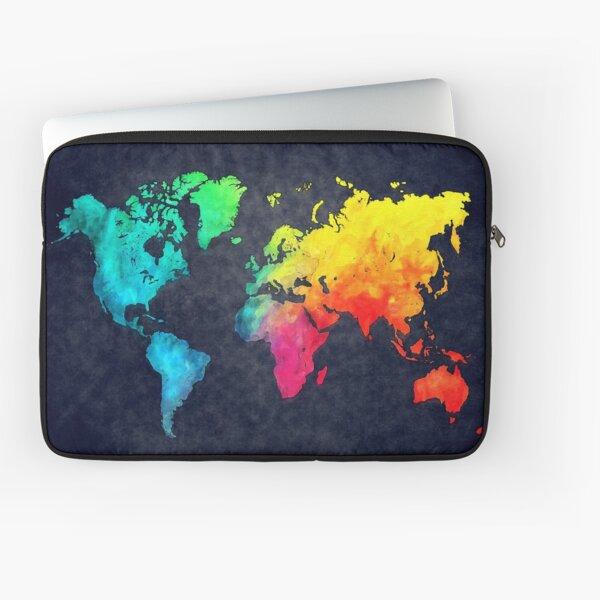 world map watercolor 6 #map #worldmap Laptop Sleeve