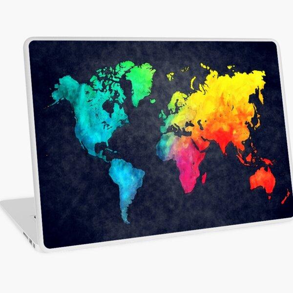 world map watercolor 6 #map #worldmap Laptop Skin