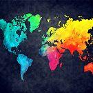 world map watercolor 6 by JBJart