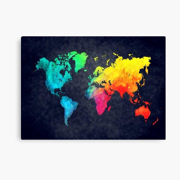 world map watercolor 6 #map #worldmap Canvas Print