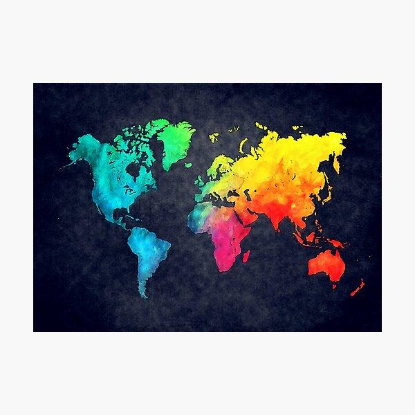 world map watercolor 6 #map #worldmap Photographic Print